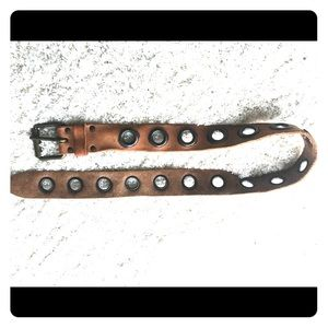 Cool leather and rivet belt